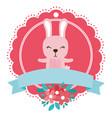 rabbit round icon vector image vector image