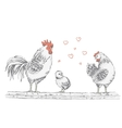 Rooster standing on a tree branch vector image vector image