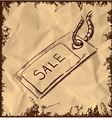 Sale tag icon isolated on vintage background vector image vector image
