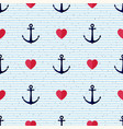 seamless geometric pattern with anchors vector image