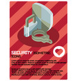 security color isometric poster vector image vector image