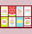 set of banners with cute pigs vector image vector image