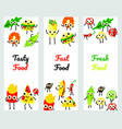 set of fast food vertical vector image vector image