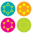set of icons with the stars of david vector image