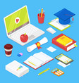 set of student accsessories vector image vector image