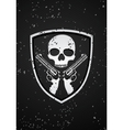 skull badge vector image vector image