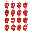 Smiles set of vegetables characters cute vector image vector image