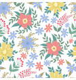spring flowers seamless patten garden summer vector image