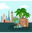 Travel concept Tourism and vector image vector image
