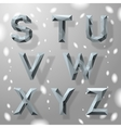 Trendy grey fractal geometric alphabet part 3 vector image