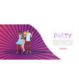 trendy party banner festive poster colorful vector image vector image
