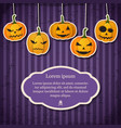 vintage happy halloween festive template vector image vector image