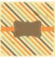 Vintage Label on Grunge Stripe Background vector image vector image