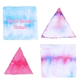 Watercolor triangle and rectangle shapes vector image vector image