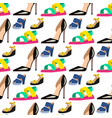 womens shoes flat design seamless pattern vector image