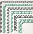 Decorative seamless islamic ornamental border with