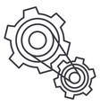motor settingsengine line icon sign vector image