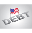 United States Debt Concept vector image