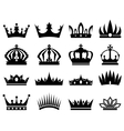 Crowns silhouette set vector image