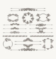floral filigree design element set vector image