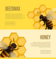 fresh honey and beeswax retail banners vector image