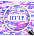 HTTP vector image