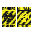 2 radiation posters vector image vector image