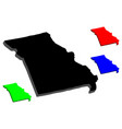 3d map of missouri vector image