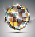 3D metal gold sparkling mirror ball created from vector image vector image