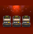 3d slots machine wins jackpot isolated vector image