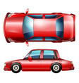 A red sedan vehicle vector image vector image