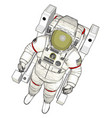 an astronaut white background vector image