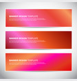 banners or headers with holographic gradient vector image