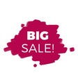 big sale purple background sale banner imag vector image