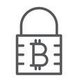 Bitcoin encryption line icon money and finance