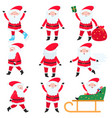 bright and cheerful santa claus in his red suit vector image