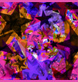 bright yellow stars from foil on purple fragments vector image vector image