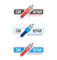 car repaire service vector image vector image