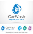 car wash logo template design vector image vector image