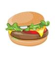 cartoon hamburger isolate vector image vector image