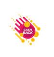 cashback offer vector image vector image