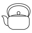 chinese teapot icon outline style vector image