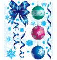 Christmas & New-Year's decorations vector image vector image