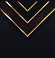 Color abstract geometric banner with gold shapes