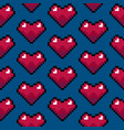 color pixel heart games seamless pattern vector image vector image