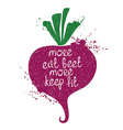 Colorful Of Isolated Beet Silhouette vector image vector image