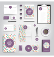 Corporate identity stationery objects vector image vector image