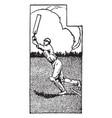 cricket vintage vector image