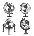 Earth globe monochrome set vector image vector image