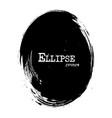 ellipse shape grunge style vector image vector image